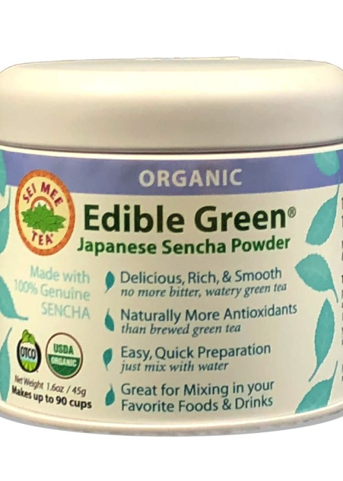 Edible Green Sencha Powder 90 cup Gift Tin