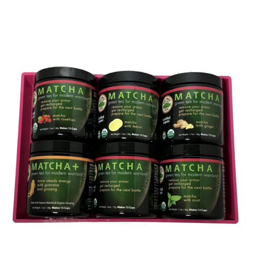 matcha tea set pink