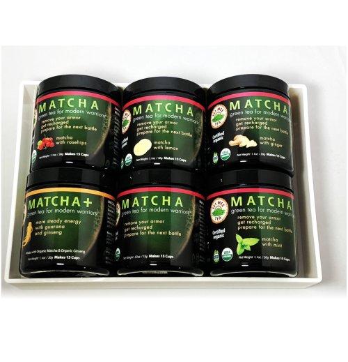 matcha tea set white