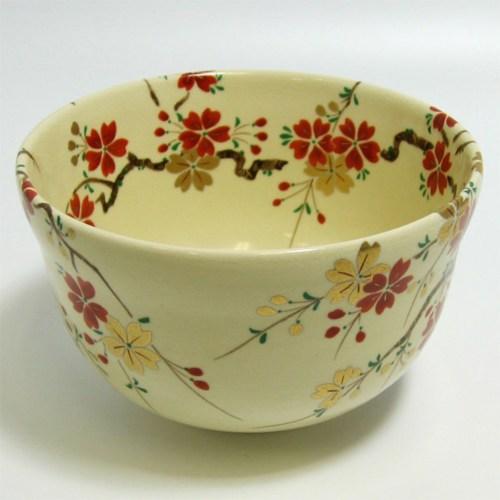 Ninsei Utsushi Cherry Blossom Tea Bowl