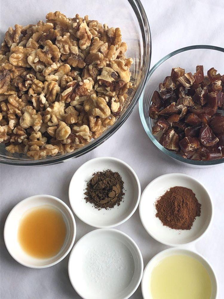 Hojicha walnut crust ingredients