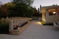 Concrete Patio With Paver Wall - Patio Ideas
