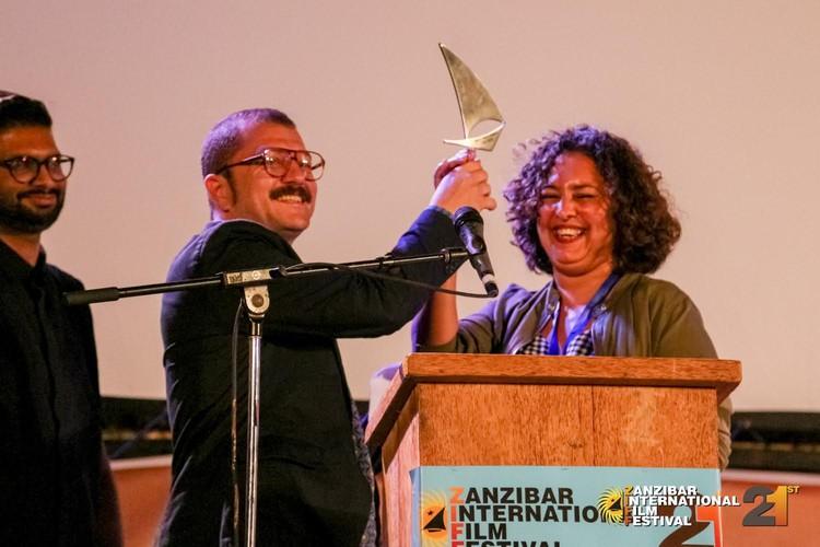 Photo of woman receiving award