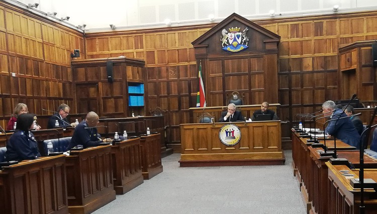 Photo of committee room in parliament