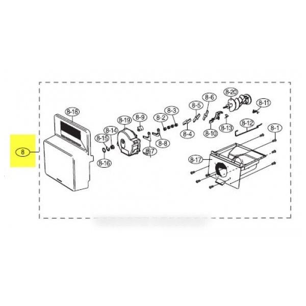 fabrique de glace assemble pour réfrigérateur SAMSUNG