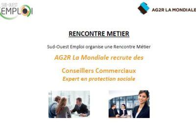 AG2R LA MONDIALE recrute des Conseillers commerciaux