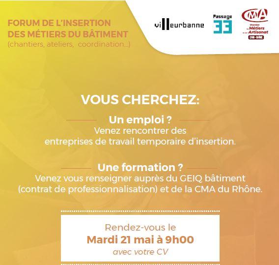 Venez à la rencontre de notre équipe GIROL lors du Forum de l'insertion des métiers du Bâtiment