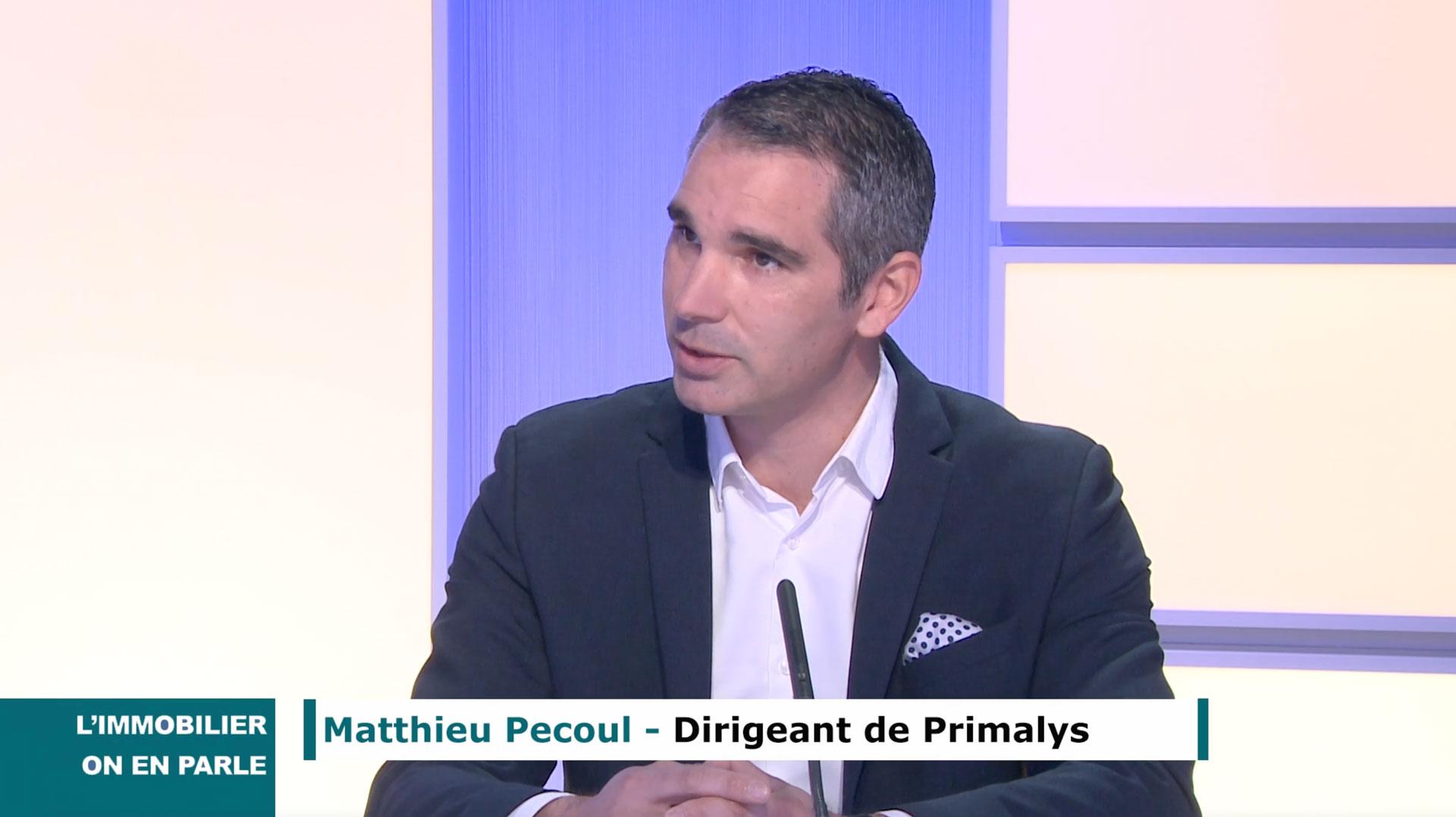 Matthieu Pecoul, dirigeant de Primalys, promoteur immobilier régional