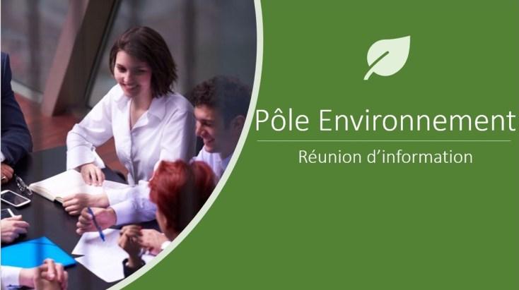 Réunion pôle Environnement