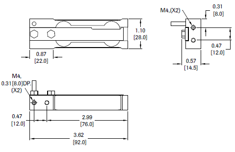 4001 Aluminum IP66 Single Point Load Cell