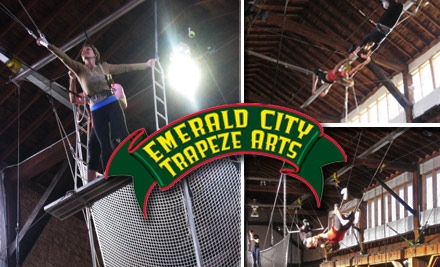 $30 for a Two-Hour Flying Trapeze Class at Emerald City Trapeze Arts (Up to $70 Value)