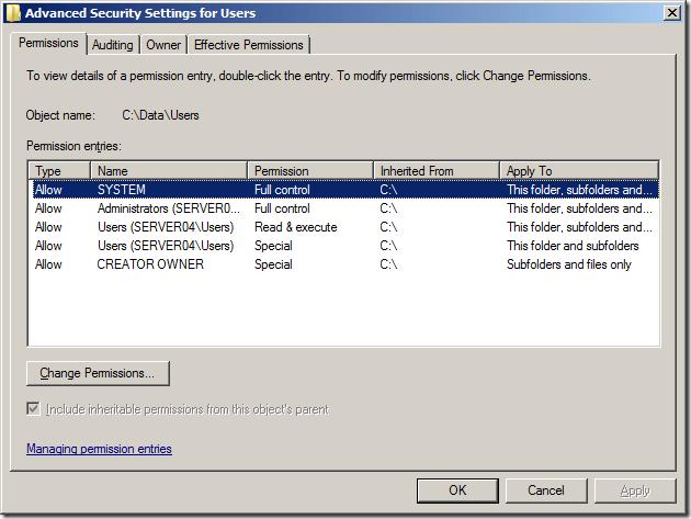 no write access to parent open ldap windows