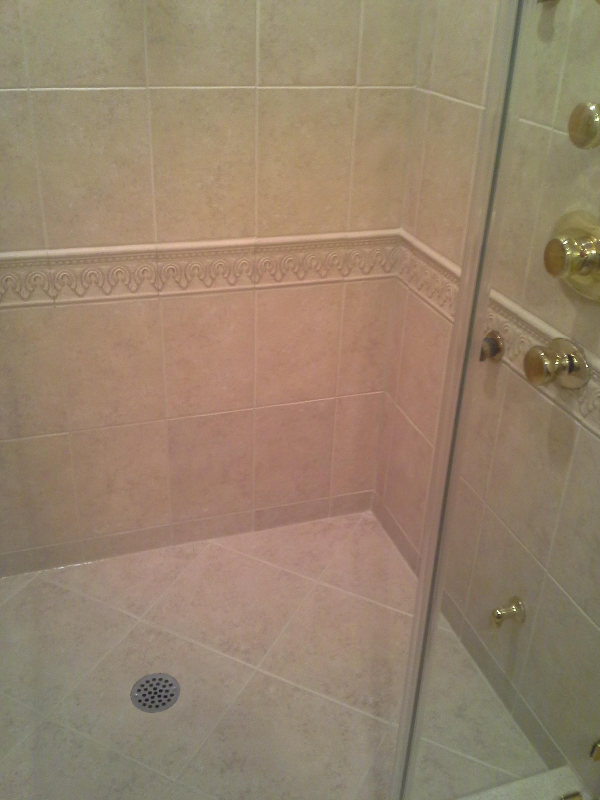 Moldy Shower Grout Caulk  Bathroom Grout Repair VS Dirty