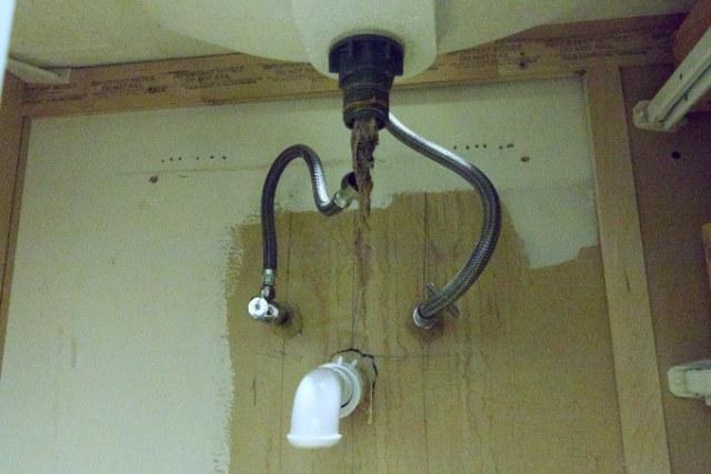 Clogged bathroom sink drain