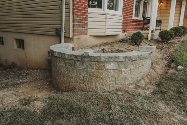 Versa Lok Landscape Retaining Wall Versa Lok Landscape Retaining Wall Progress