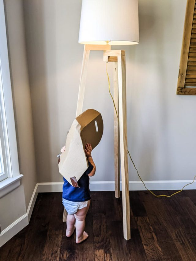 DIY Floor Lamp for Nursery, toddler