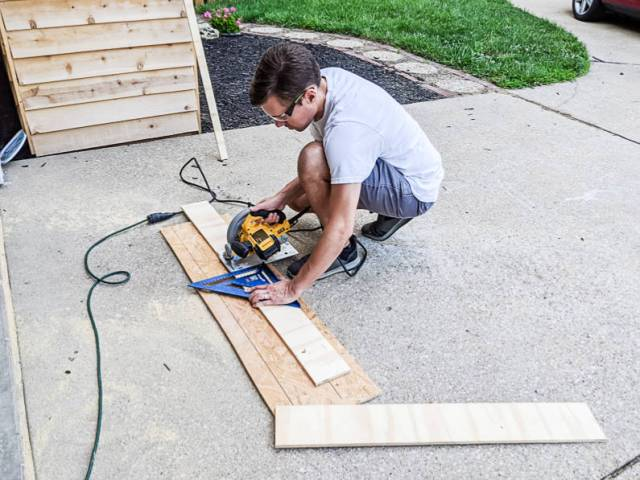 Cutting shelves for the giant pegboard