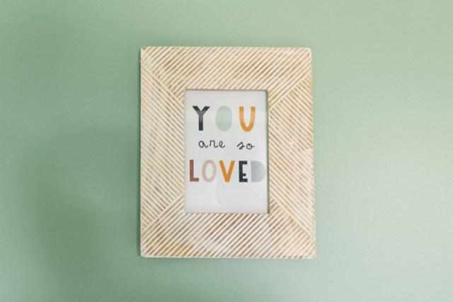 You are so loved wall art in large frame