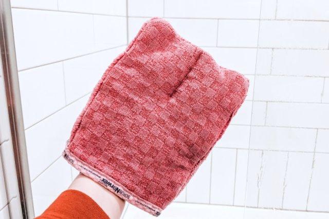 Norwex Bathroom Scrub Mitt Shower Doors