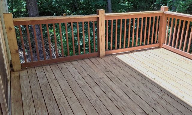After sanding the deck