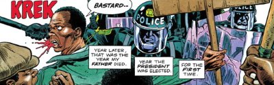 Riot Police in The Life and Times of Martha Washington in the Twenty-First Century by Frank Miller and Dave Gibbons