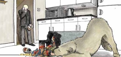 Eric eat's from the bin in Mann's Best Friend by Scarlett & Sophie Rickard