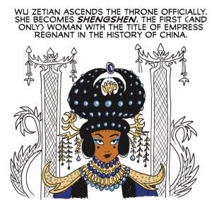 Wu Zetian in Brazen: Rebel Women Who Rocked the World by Pénélope Bagieu