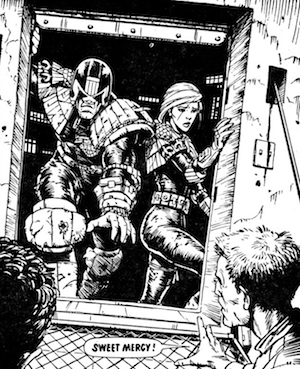Judge Dredd and Judge Anderson return from the City of the Damned in Judge Dredd: The Complete Case Files 08