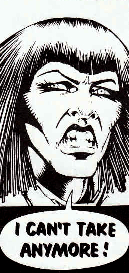 Cam Kennedy's face of future unemployment in Judge Dredd: The Complete Case Files 08