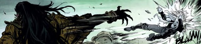 Elric fights for his life against Saxif D'aan