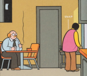 William Brown and Joanne Cole in Chris Ware's Rusty Brown