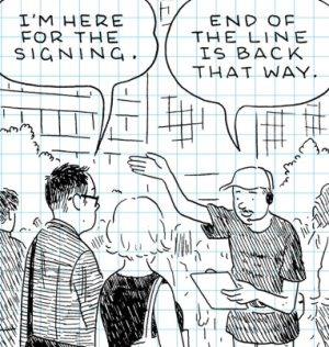 Adrian Tomine isn't recognised at his own signing