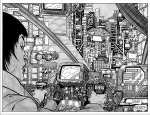 Black and white art from Blade Runner 2019 Artist's Edition