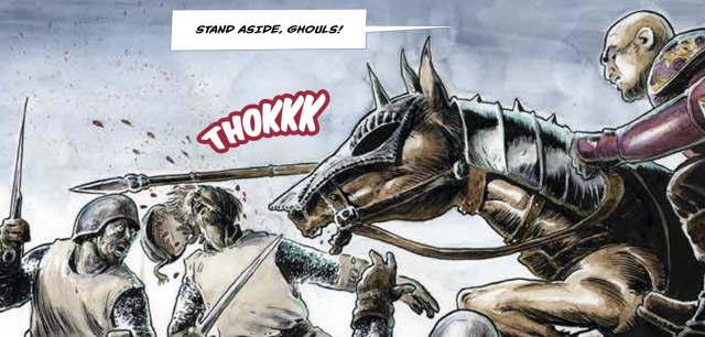 Cavalry action from The Crannog Saga