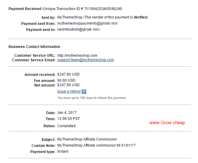 MyThemeShop Affiliate Payment (My Income Proof)