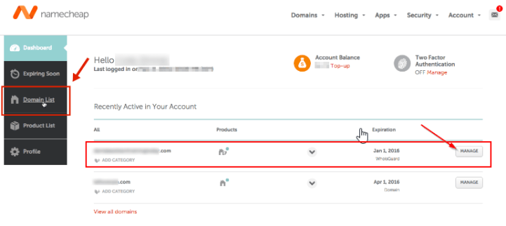 Point NameCheap domain to BlueHost