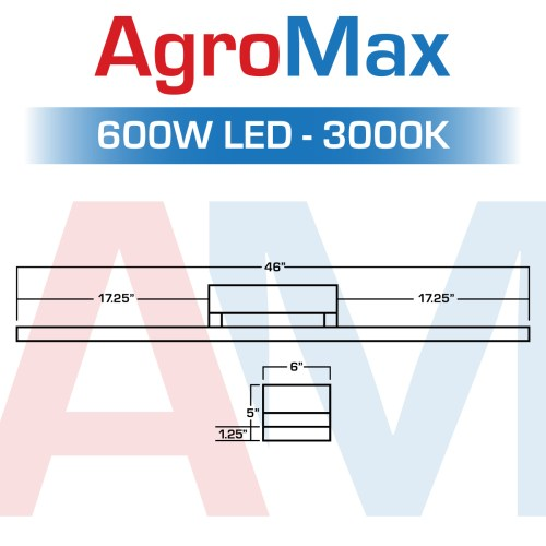 small resolution of built for every garden the all new agromax 600 watt leads the pack of high performance budget friendly led grow lights its led chips and meanwell driver