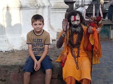 Monkey Temple Saddhu
