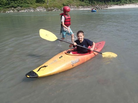 Safety kayaker.