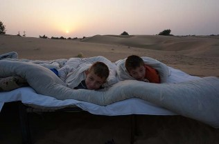 Sunrise in the desert