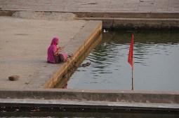 The ghats on Pushkar Lake