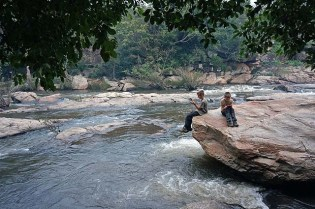 Chinnar - river before rain