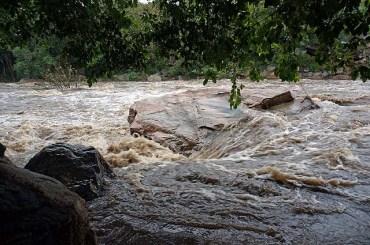 Chinnar - river after rain