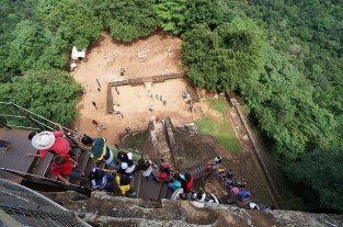 Steep climb up to the top at Sigiriya
