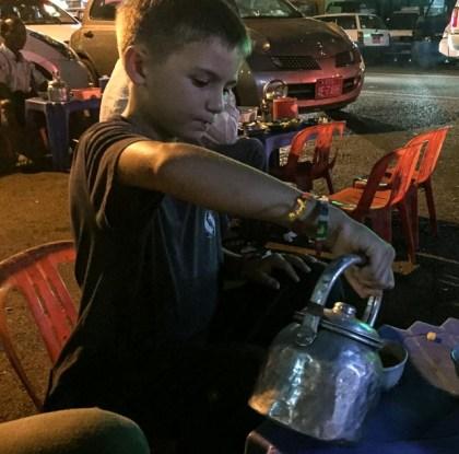 Tea shop on the street