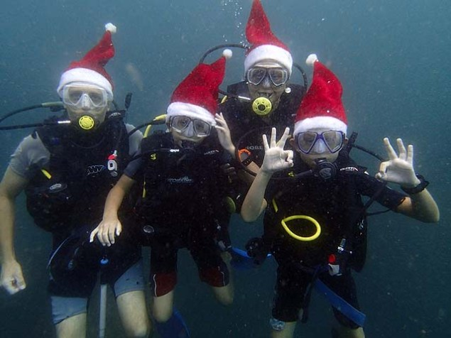 Christmas scuba diving Sri Lanka