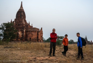 Round the world travel route - Bagan's amazing temples, Myanmar