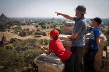 Learning about Bagan temples