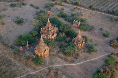 Ballooning over Bagan