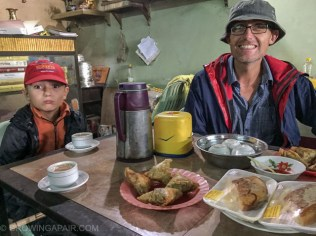 Waiting for a bus in a tea house in Myanmar